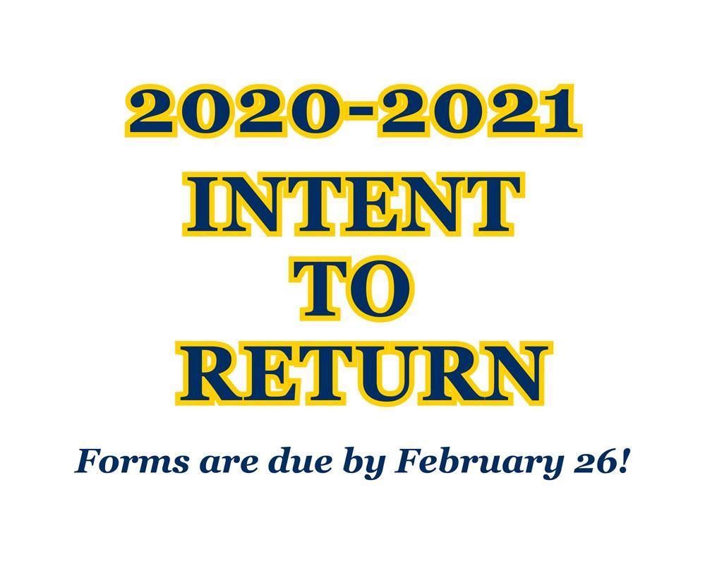 Returning to CSAT? Fill Out Your Intent to Return Form Online!